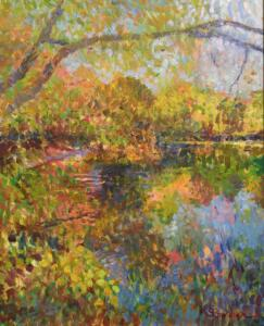 ALONG CENTERVILLE POND  |  20 x 16  |  26.125 x 22.125 Framed  |  $7000