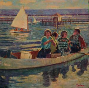 BOYS OF SUMMER HYANNISPORT  |  Oil on canvas  |  36 x 36  |  Inquire for pricing