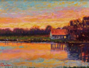 CENTERVILLE RIVER SUNSET  |  12 x 16  |  17 x 21 Framed  |  $5500