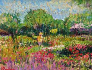 FALMOUTH GARDEN  |  Oil on canvas  |  11 x 14  |  16 x 19 Framed  |  $5000
