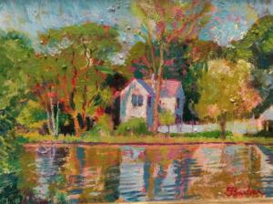 ON GOLDEN POND, SANDWICH  |  Oil on canvas  |  9 x 12  |  14 x 17 Framed  |$4000