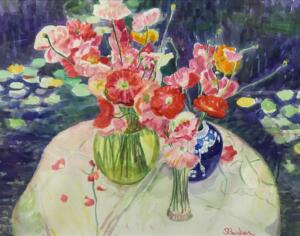 POPPY BOUQUETS  |  Watercolor on paper   |  18 x 24  |  27.5 x 33.5 Framed  |  $5000