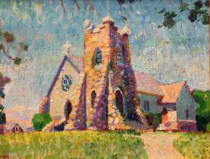 ST. ANDREWS BY THE SEA, HYANNISPORT  |  Oil on canvas  |  11 x 14  |  22.5 x 26.5 Framed  |  $5000