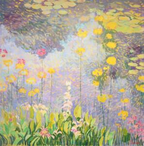 WATER LILY AND PRIMROSE  |  Oil on canvas  |  48 x 48  |  Inquire for pricing