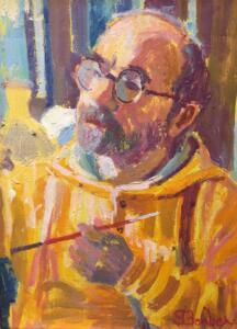 SELF PORTRAIT  |  Oil on canvas  |  12 x 9  |  18 x 15 Framed  |  $4000
