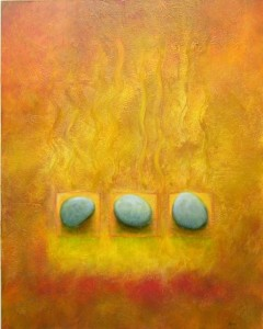 3 STONES  |  30 x 24  |  Oil on panel  |  31 x 25 Framed  |  $2400