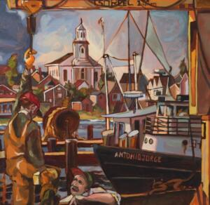 Antonio Jorge Provincetown | 23.5 x 23.5 | Framed  | Oil on canvas  | $1100