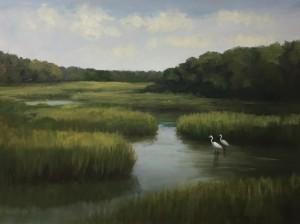 BARNSTABLE MARSH  |  18 x 24  |  Oil on canvas  |  24.75 x 30.75 Framed  |  $2300