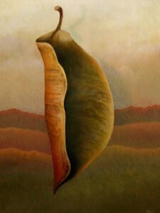 BIO-LOGIC LEAF #5  |  24 x 18  |  Oil on panel  |  25 x 19 Framed  |  $1800