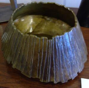 BOWL NO. 6   | 4.8 x x 10 x 10.5  |  Cast Bronze  |  $2200