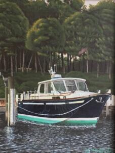BANKS ON OYSTER HARBOR | Acrylic on Board | $950 Framed - 15 x 18
