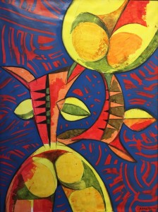 CARIBEROTICA II |  Acrylic on canvas  |  40 x 30 |  42.5 x 32.5 Framed  |  $2000