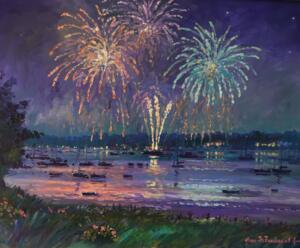CELEBRATION IN COTUIT  |  Acrylic on canvas  |  24 x 30  |  30.5 x 36.5 Framed  |  $2900