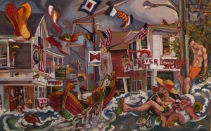 COMMERCIAL STREET  |  24 x 36  |  Oil on canvas  |  30 x 42 Framed  |  $3000