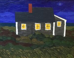 COTTAGE  |  16 x 20  |  Oil on canvas  |  20 x 24 Framed  |  $1500