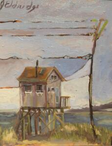 COTTAGE ABOVE  |  Oil on canvas  |  10 x 8  |  13 x 11 Framed  |  $400