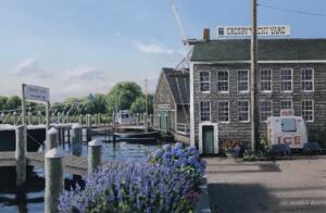CROSBY YACHT YARD  |   Oil on canvas   |  24 x 36  |   31.5 x 43.5  Framed |   $3800