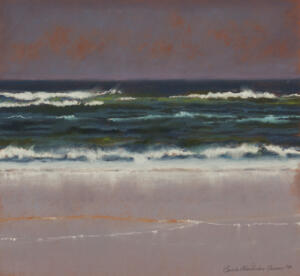 STORM BREWING  |  14 x 15  |  Pastel on paper |  Framed - 23.25 x 23.25 |  $3000