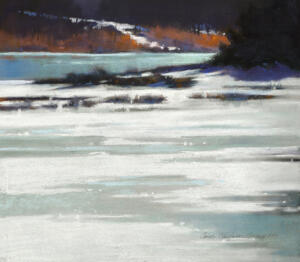 FIRST FREEZE  |  13 x 14.75  |  Pastel on paper |  Framed - 22.50 x 23.75 |  $1900