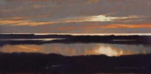 RIVER SUNSET | 11.75 x 23.75  |  Pastel on paper |  Framed - 21 x 32.75 |  $2900