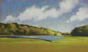 WEST BAY COVE  |  14.5 x 25.25  |  Pastel on paper |  Framed - 23.75 x 34.25 |  $3500