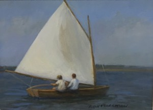 COTUIT SAILING  |  Oil on board  |  6 x 8  | 10.5 x 12.5 Framed  | $450