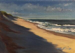 DUNE SHADOWS   |  Acrylic on canvas  |  5 x 7  | unframed  |  $500