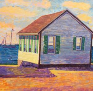 DAYS COTTAGES |  36 x 48 | unframed | Oil on canvas | Inquire for pricing