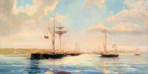 EARLY YARMOUTH PORT  |  18 x 36  |  Oil on Canvas  |  $3200