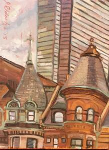 COMMONWEALTH ROOFTOPS  |  Oil on canvas  |  12 x 9  |  13 x 10 Framed  |  $600