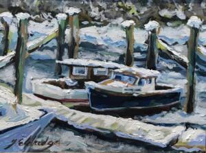 FROZEN IN  |  Oil on canvas  |  9 x 12  |  12.25 x 15.25 Framed  |  $600