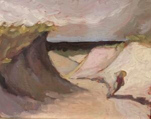 PROVINCETOWN DUNES #3  |  Oil on canvas  |  10 x 8  |  14.5 x 12.5 Framed  |  $400