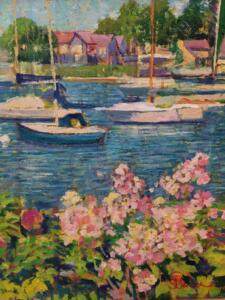 FALMOUTH HARBOR  |  18 x 14  |  Oil on canvas  |  23 x 19 Framed  |  $6000