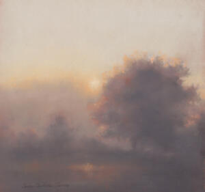 FOGGY MORNING  |  13.25 x 14.25  |  Pastel on paper |  22.25 x 23 Framed  |  $3000