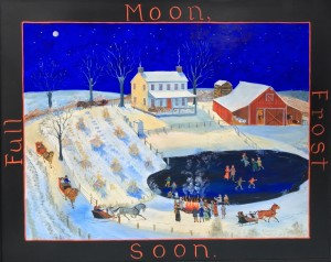 FULL MOON, FROST SOON     Oil on masonite     24 x 28 Framed     $4000