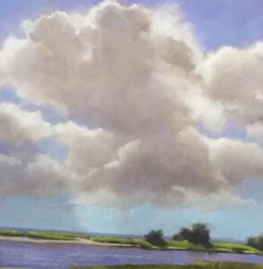GREAT BIG SUMMER DAY II |  Pastel on paper  |  17 x 15.75  |  25.5 x 24.25 Framed  |  $3150