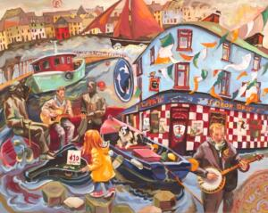 Galway Ireland |  31 x 37.5  | Framed  | oil on canvas | $2600
