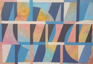 Grid with Spheres   |  Oil on canvas   |  18 x 26   |  $1950