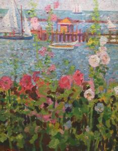 HARBOR VIEW HYANNISPORT  | 20 x 16  |  Oil on canvas  |  26 x 23 Framed  |  $7000