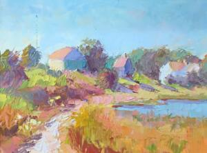 INDIAN SUMMER DOWSES BEACH  |  Oil on board  |  11 x 14  |  15 x 18 Framed  |  $700