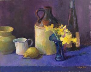 JUG WITH DAFFODILS  |  Oil on board  |  16 x 20  |  20 x 24 Framed  |  $1400