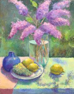 LILACS  |  Oil on board  |  20 x 16  |  26 x 22 Framed  |  $1400