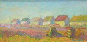 SUMMER COTTAGES TRURO  |  Oil on board  |  6 x 12  |  9.5 x 15.5 Framed  |  $600