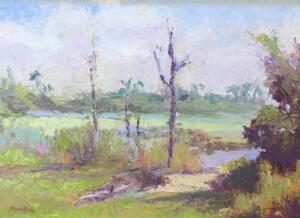 THE GLADES,  FLORIDA  |  Oil on board  |  12 x 16  |  17 x 21 Framed  |  $1200
