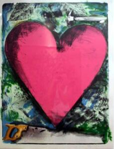 HEART AT THE OPERA    Signed 45/50   Lithograph   Framed 44 7/8 x 57   Paper size 38 x 50 1/2