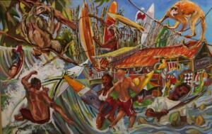PURA VIDA/IN COSTA RICA  |  24 x 36  |  Oil on canvas  |  30 x 42 Framed  |  $3000