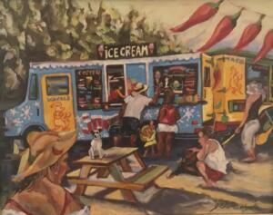 JOEY'S  |  Oil on canvas  |  14 x 18  |  20.5 x 24.5 Framed  |  $1200