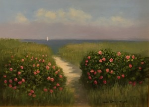 JUNE ROSES  |  Oil on canvas |  12 x 16  |  18 x 22 Framed  |  $1200