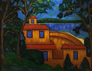LAKE VIEW  |  Oil on canvas  |  26 x 32  |  31.5 x 37.5 Framed  |  $2900