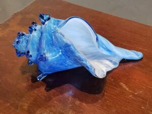 Large Conc Shell  |  Light Blue  |   Hand Blown Glass   |  $150